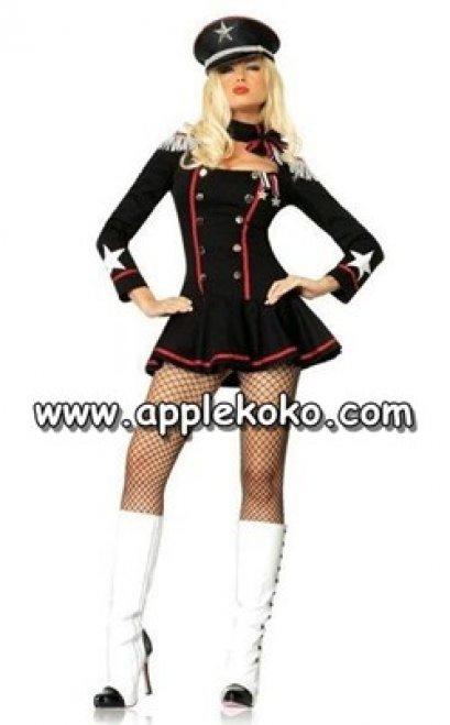 [[พร้อมส่ง]]  ชุดแฟนซี cosplay คอสเพลย์ ชุดตำรวจ สีดำ แขนยาวกระดุมสองแถว