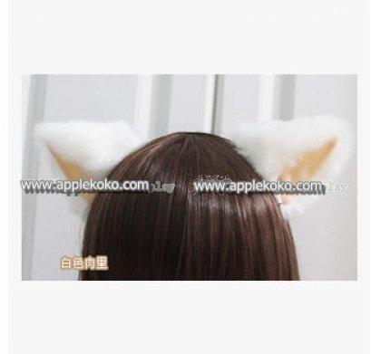 [[พร้อมส่ง]] หูแมว หูแมวคอสเพลย์ แฟนซี cosplay คอสเพลย์ หูแมวสีขาวหูในสีเนื้อ แบบที่คาดผม