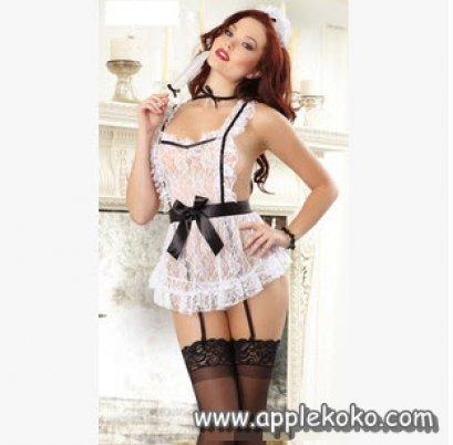 [[พร้อมส่ง]] ชุดแฟนซี cosplay ชุดคอสเพลย์ ชุดแม่บ้าน โลลิต้า lolita สาวเสิร์ฟ แบบผ้ากันเปื้อนผ้าลูกไม้