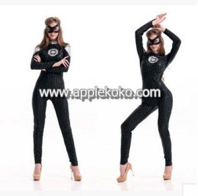 [[สินค้าหมด]] ชุดแฟนซี cosplay แฟนซี คอสเพลย์ ชุดซุปเปอร์ฮีโร่ superhero จั๊มสูทสีดำ