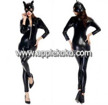 [[สินค้าหมด]] ชุดแฟนซี cosplay คอสเพลย์ ชุดนางแมว สีดำ