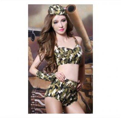 [[พร้อมส่ง]] ชุดแฟนซี cosplay ทหารบก ทหารพราน กองทัพ ลายพราง ชุดคอสเพลย์ ชุดทหารบก เสื้อตัวสั้น