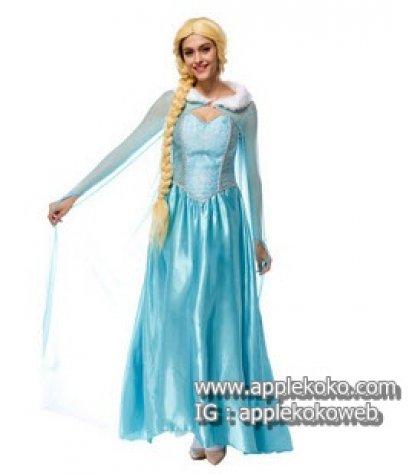 [[สินค้าหมด]] ชุดแฟนซี cosplay แฟนซี คอสเพลย์ ชุดเจ้าหญิงในเทพนิยาย Disneyland สีฟ้า ราพันเซลเจ้าหญิงผมยาว