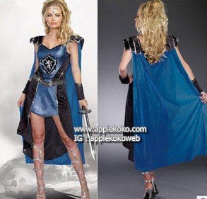 [[สินค้าหมด]] ชุดแฟนซี cosplay ชุดคอสเพลย์ ชุดยอดมนุษย์ ซุปเปอร์ฮีโร่ การ์ตูน ชุดนักรบอัศวินสีน้ำเงิน
