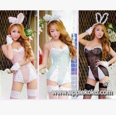 [[สินค้าหมด]] ชุดแฟนซี cosplay ชุดคอสเพลย์ แฟนซี ชุดกระต่าย บันนี่ Bunny Bunnygirl ชุดกระต่าย ซีทรู สีชมพู สีเขียว
