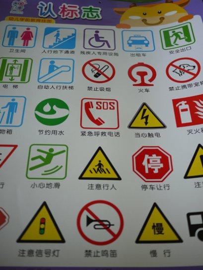 โปสเตอร์คำศัพท์ภาษาจีนหมวดเครื่องหมายต่างๆ
