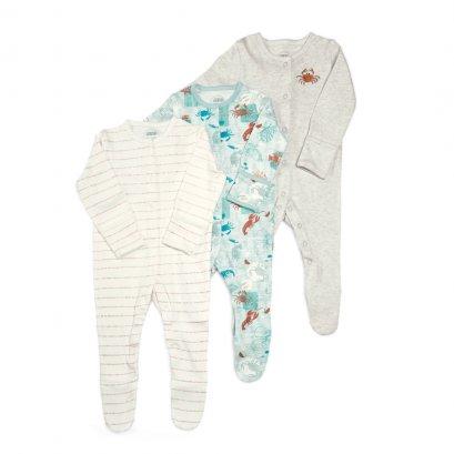 Mamas&Papas Lobster Sleepsuit 3 Packs