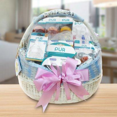 """GIFTSET6 : เซตของขวัญ สำหรับเด็กแรกเกิด """"Welcome Baby (**จัดส่งเฉพาะใน กทม. ค่าจัดส่งคิดตามระยะทาง/ส่งฟรีในระยะ 10 กม. รับสินค้าจากโซนสุขุมวิท**)"""