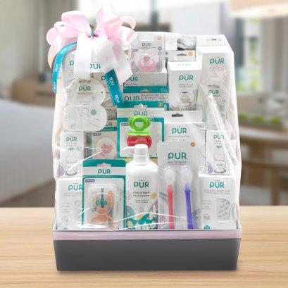 """GIFTSET5 : เซตของขวัญ สำหรับเด็กแรกเกิด """"Welcome Baby"""" (**จัดส่งเฉพาะใน กทม. ค่าจัดส่งคิดตามระยะทาง**)"""