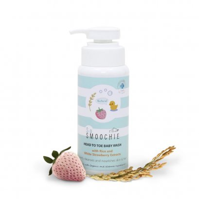 ครีมอาบน้ำและสระผมสำหรับเด็ก Head to Toe Baby Wash (สูตรออร์แกนิคและธรรมชาติ)