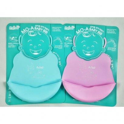 โม-เอ ซิลิโคนกันเปื้อนแบบนิ่ม แบรนด์ Ange - Ange MO-A Baby Bib