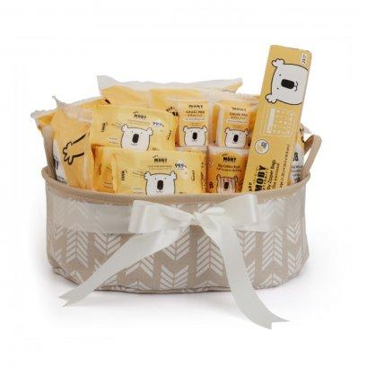 Newborn Essentials Gift Basketเซ็ตตระกร้าของขวัญสำหรับเด็กแรกเกิด (ราคา1,450 บาท มีค่าส่ง 150 บาท ราคาด้านล่างรวมเรียบร้อยแล้ว)