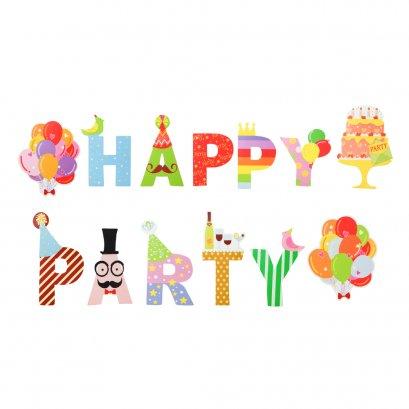 แบนเนอรแฟนซี ลาย Happy Party  - Baby Raihsa