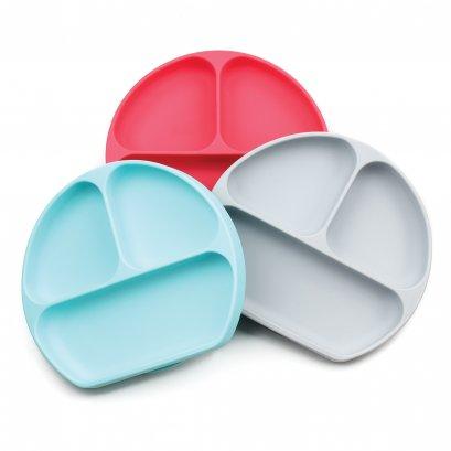 จานแบ่งช่อง มีฐานดูดพื้นผิว Silicone Grip Dish - Bumkins