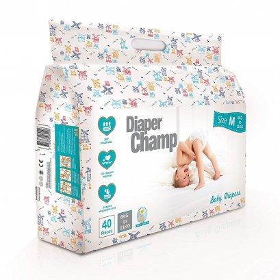 Diaper Champ ผ้าอ้อมสำเร็จรูป ชนิดเทป (ซื้อ 1แถม 1 ถึงวันที่ 30/06/2564)