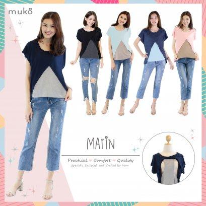 เสื้อทูโทนคลุมท้อง  Muko  - Marin
