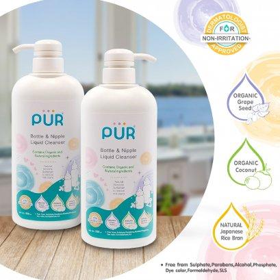 PUR น้ำยาล้างขวดนมและจุกนม ออแกนิกส์ 500 ml.