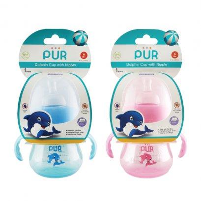 แก้วหัดดื่ม Dolphin Cup with Nipple  ขนาด 8 ออนซ์