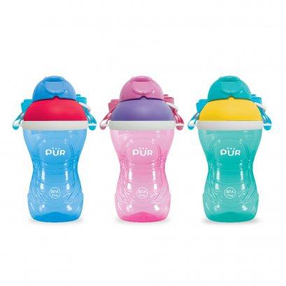 Pur Activity Straw Cup แก้วน้ำหลอดดูด พร้อมสายสะพาย