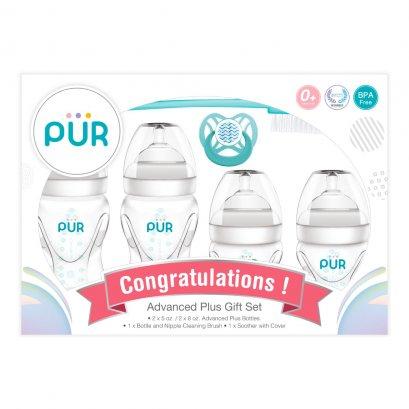 PUR ชุดกิ๊ฟเซ็ทขวดนมคอกว้าง Advanced Plus Gift Set