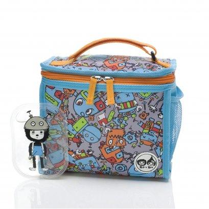 กระเป๋าเก็บความเย็น พร้อมไอซ์แพ็ค Zipped Lunch Bag  - Robot Blue