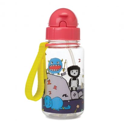 Drinking Bottle with Straw - Monster