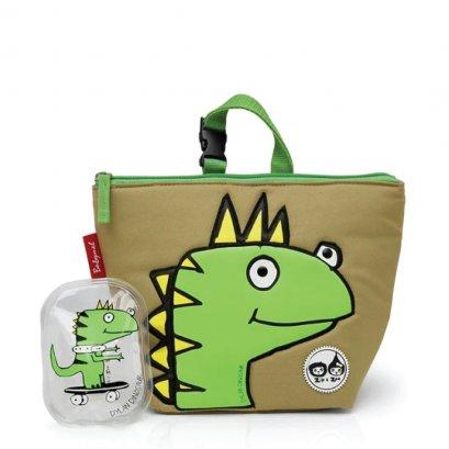 กระเป๋าใส่อาหาร Lunch Bag + Ice Pack ลาย Dylan Dino Face