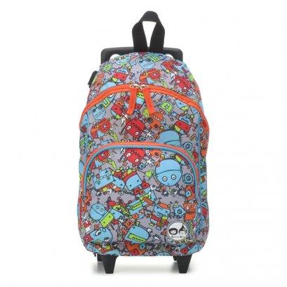 กระเป๋าล้อลาก Kid's Mini Trolley bag  ลาย Robot Blue