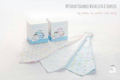 Iflin My Handy Bamboo Washcloth & Napkin