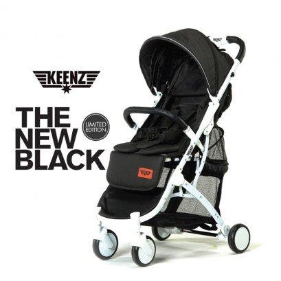 Keenz รถเข็นเด็กขนาดพกพา รุ่น Air Plus - Black on White Frame