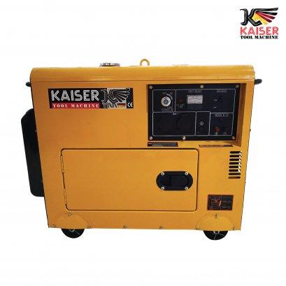 เครื่องปั่นไฟดีเซลเก็บเสียง 6.5 KW KAISER
