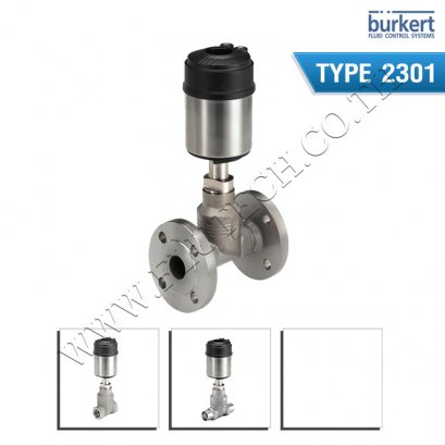 BURKERT TYPE 2301 - Pneumatically operated 2 way Globe Control Valve