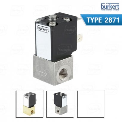 BURKERT TYPE 2871 - Direct-acting 2-way standard solenoid control valve