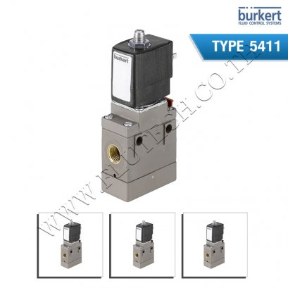 Type 5411 - 3/2-way solenoid valve for pneumatic applications