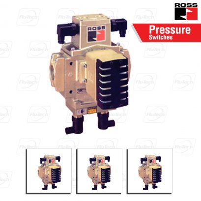 ROSS Double Valves with Pressure Switches, Ports 3/8 to 1-1/2
