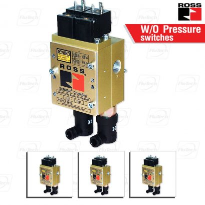 ROSS Double Valves with or w/o Pressure Switches, Ports 1/4 to 3/4