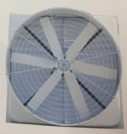 HY Series FRP Nagetive Pressure Exhaust Fan with FRP Motor Support