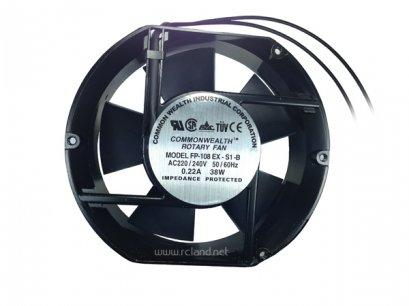 พัดลมระบายอากาศแบบหัวตัด 6 นิ้ว 220VAC 0.22A