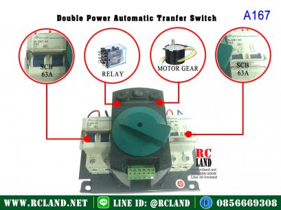 ATS Double Power Automatic Transfer Switch 63A