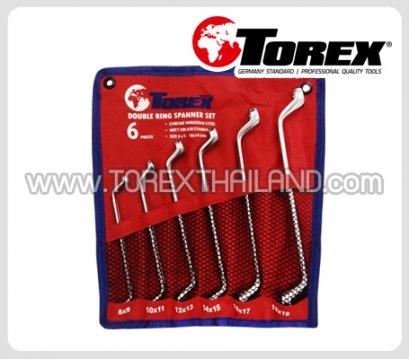 TOREX ประแจแหวนชุด 6 ตัว ขนาด 8 x 9 - 18 x 19 มม.