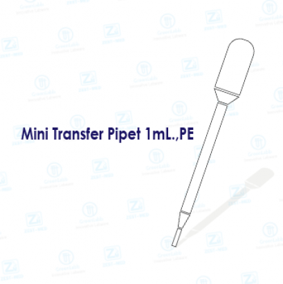 Mini Transfer Pipet 1mL.,PE