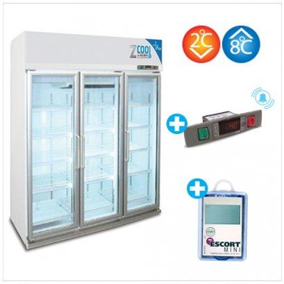 Z-Cool 2-8 °C, Refrigerator 3 door with Alarm & Intelligent