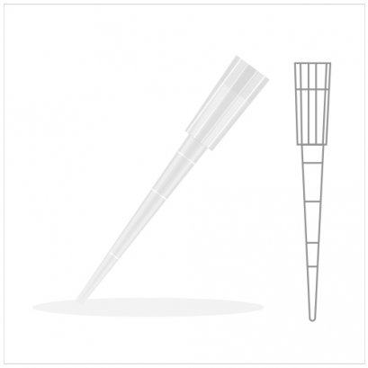 Universal Graduated Pipet Tip 1-200ul. Natural