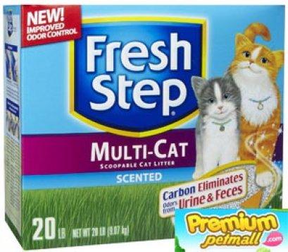 ทรายแมว Fresh Step Multiple Cat เฟรชสเต็ป ขนาด 20 ปอนด์ (9.07) สูตรแมวหลายตัว