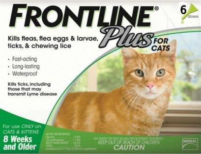 Frontline Plus แมว  กำจัดเห็บหมัด