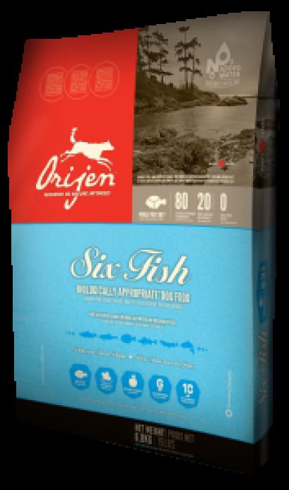 Orijen 6 Fish Dog โอริเจน สูตร ปลา 6 ชนิดสำหรับสุนัข ขนาด 11.4 กก.
