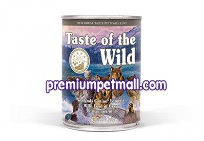 อาหารสุนัขแบบเปียก Taste of the Wild Wetlands Canine Formula with Roasted Wild Fowl ขนาด