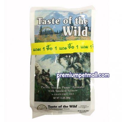 อาหารสุนัข Taste of the Wild Pacific Stream Canine Formula สูตรลูกสุนัข ขนาด 1.5 ปอนด์