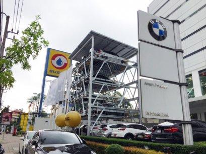 BMW Amorn Prestige กับเทคโนโลยีจักรกลจอดรถอัตโนมัติ ที่ช่วยให้ประหยัดพื้นที่และเวลาในการหาที่จอด  แล้วเสร็จเมื่อ 9 พฤษภาคม 2561