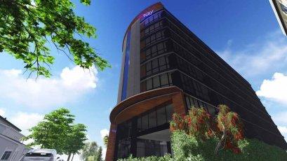 โครงการติดตั้ง ระบบที่จอดรถอัตโนมัติ โรงแรม Stay Hotel  รุ่น G-08 GSP Stack Parking 2ชั้น 16 คัน แล้วเสร็จเมื่อปี 2560